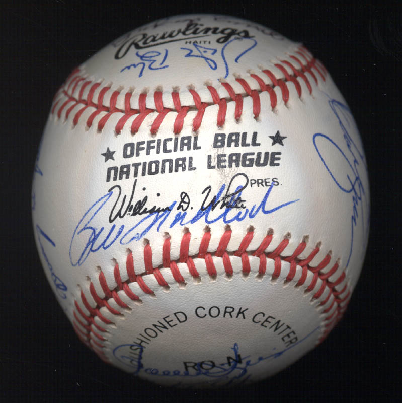 Image 7 for Kent 'Teke' Tekulve - Autographed Signed Baseball with co-signers - HFSID 117548