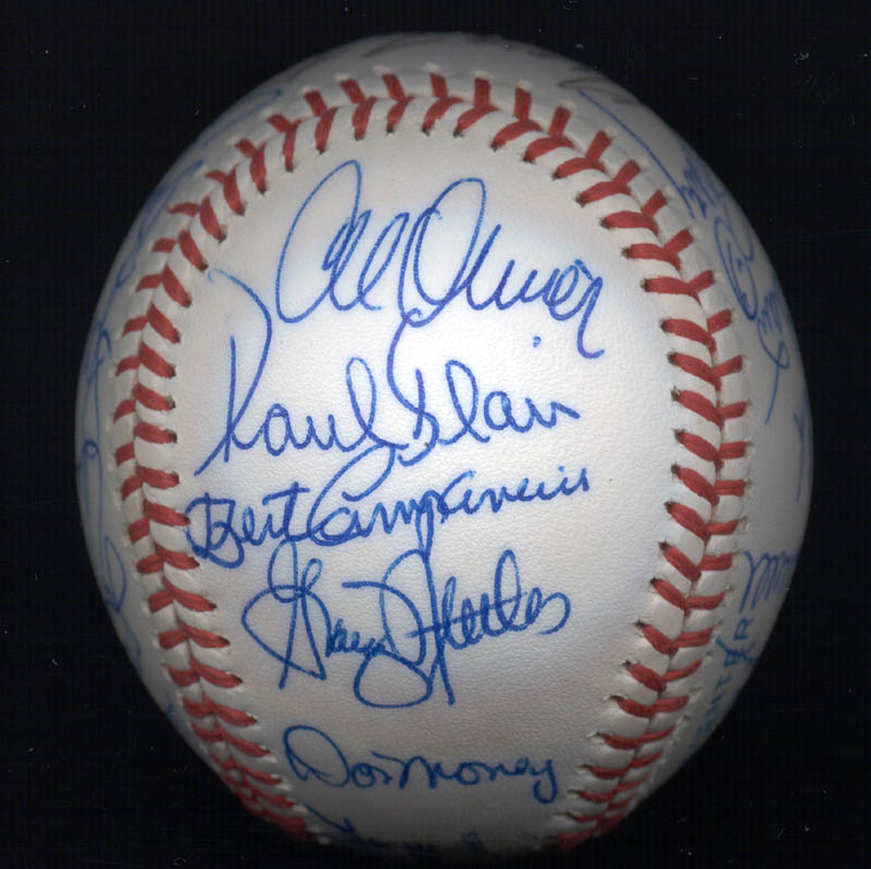 Image 5 for Kent 'Teke' Tekulve - Autographed Signed Baseball with co-signers - HFSID 117550