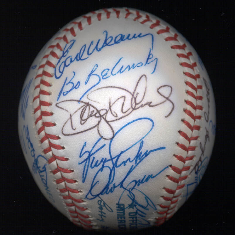 Image 6 for Kent 'Teke' Tekulve - Autographed Signed Baseball with co-signers - HFSID 117550