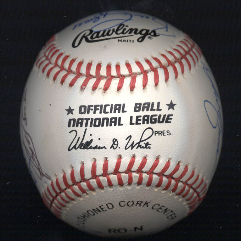 Image 7 for Bobby Bonds - Autographed Signed Baseball with co-signers - HFSID 117552