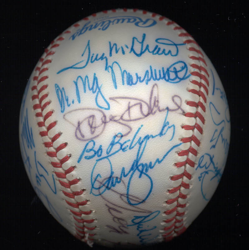 Image 3 for Kent 'Teke' Tekulve - Autographed Signed Baseball with co-signers - HFSID 117563