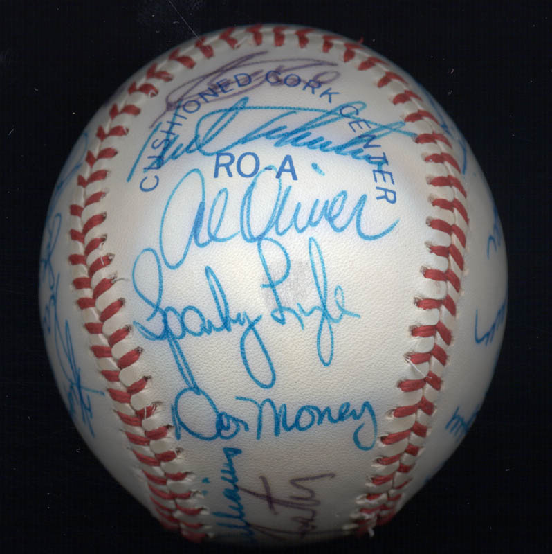 Image 4 for Kent 'Teke' Tekulve - Autographed Signed Baseball with co-signers - HFSID 117563