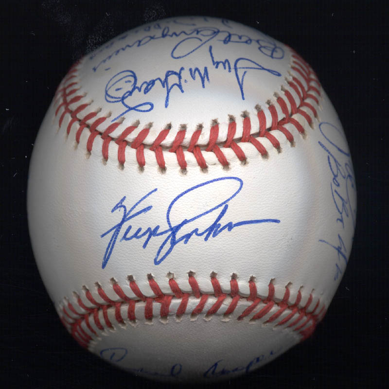 Image 1 for Kent 'Teke' Tekulve - Autographed Signed Baseball with co-signers - HFSID 117564