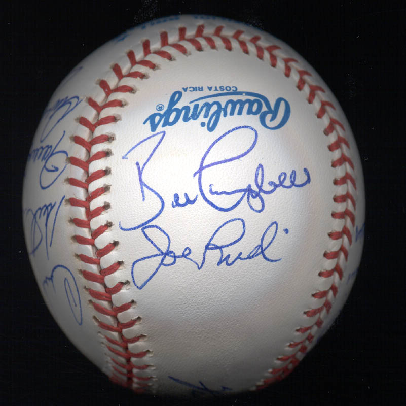 Image 4 for Kent 'Teke' Tekulve - Autographed Signed Baseball with co-signers - HFSID 117564