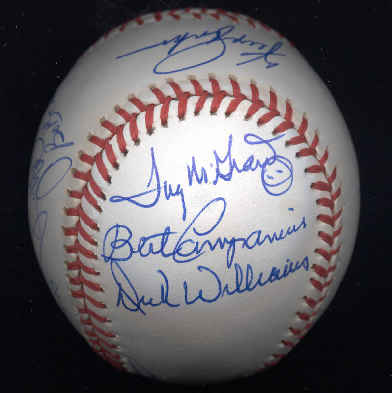 Image 6 for Kent 'Teke' Tekulve - Autographed Signed Baseball with co-signers - HFSID 117564
