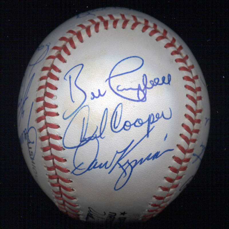Image 6 for Bobby Bonds - Autographed Signed Baseball with co-signers - HFSID 117567