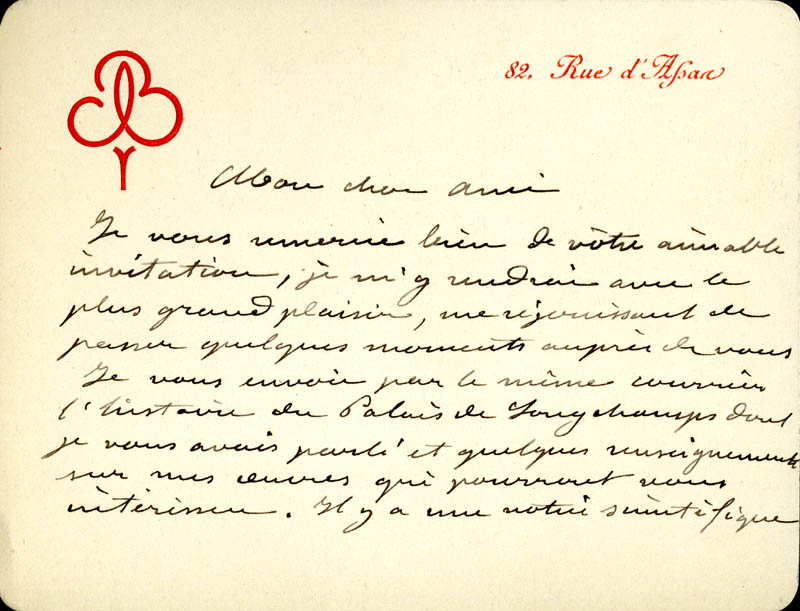 Image 3 for Frederic A. Bartholdi - Autograph Letter Signed 02/14/1896 - HFSID 1243