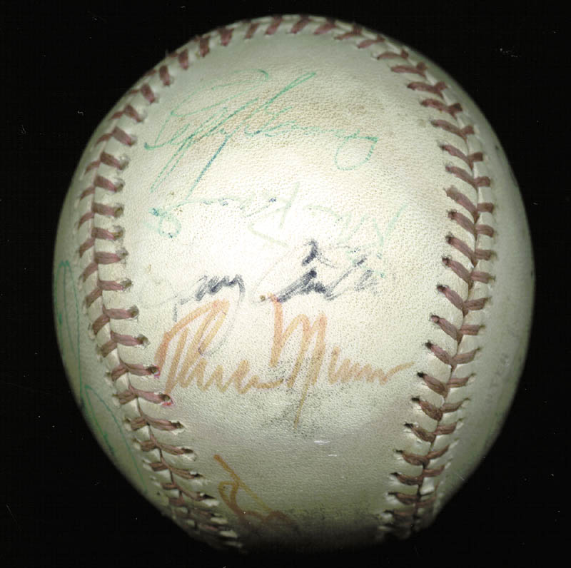 Image 1 for Thurman Munson - Autographed Signed Baseball with co-signers - HFSID 124848