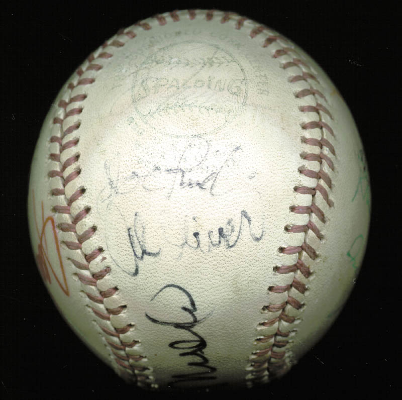 Image 4 for Thurman Munson - Autographed Signed Baseball with co-signers - HFSID 124848