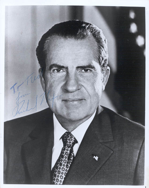 Image 1 for President Richard M. Nixon - Autographed Inscribed Photograph - HFSID 124871