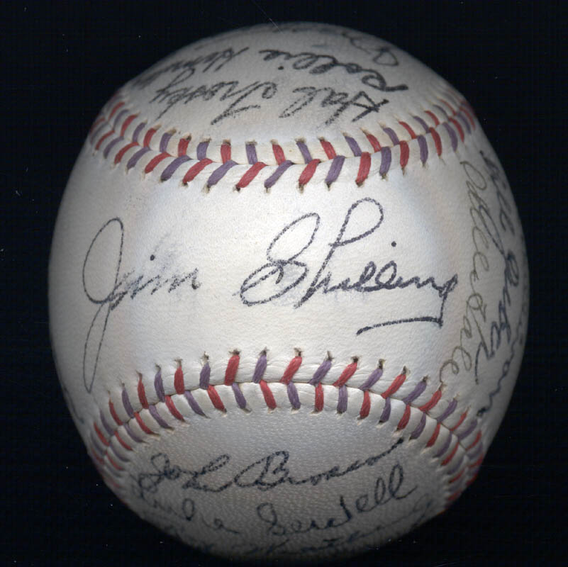 Image 3 for The Cleveland Indians - Autographed Signed Baseball Circa 1939 with co-signers - HFSID 124891