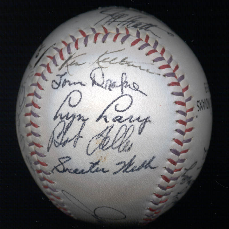 Image 4 for The Cleveland Indians - Autographed Signed Baseball Circa 1939 with co-signers - HFSID 124891