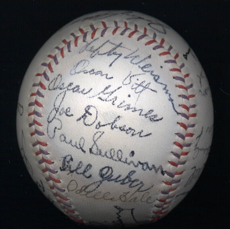 Image 5 for The Cleveland Indians - Autographed Signed Baseball Circa 1939 with co-signers - HFSID 124891