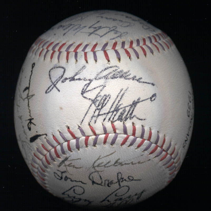 Image 8 for The Cleveland Indians - Autographed Signed Baseball Circa 1939 with co-signers - HFSID 124891