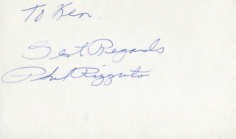 Image 1 for Phil Rizzuto - Inscribed Signature - HFSID 124902