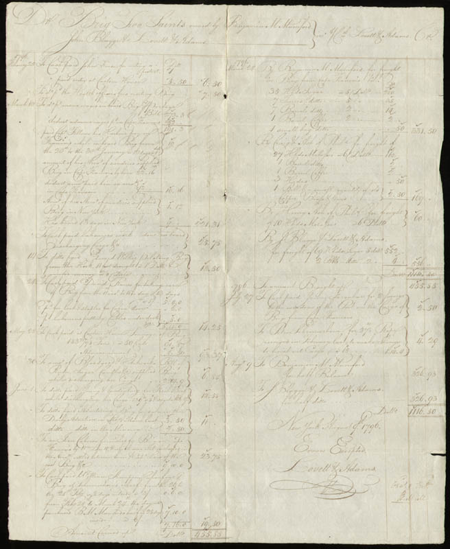 Image 1 for Lovett V. Adams - Autograph Document Signed 08/09/1796 - HFSID 1292