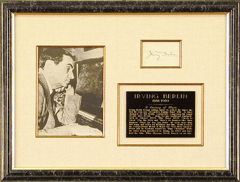 Image 1 for Irving Berlin - Autograph - HFSID 1309