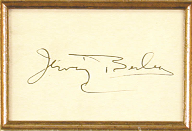Image 3 for Irving Berlin - Autograph - HFSID 1309