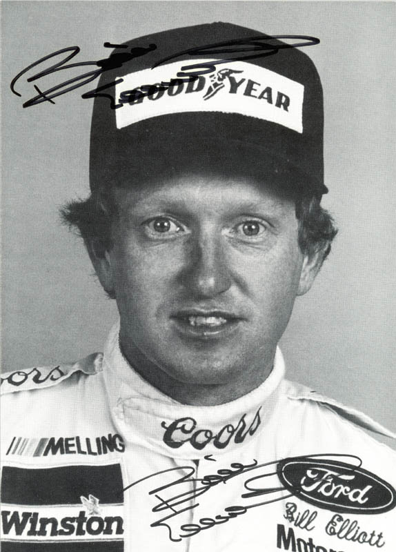 Image 1 for Bill 'Million Dollar Bill' Elliott - Autographed Signed Photograph - HFSID 131466