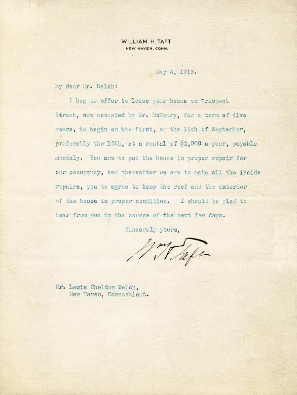 Image 1 for President William H. Taft - Typed Letter Signed 05/06/1913 - HFSID 13157