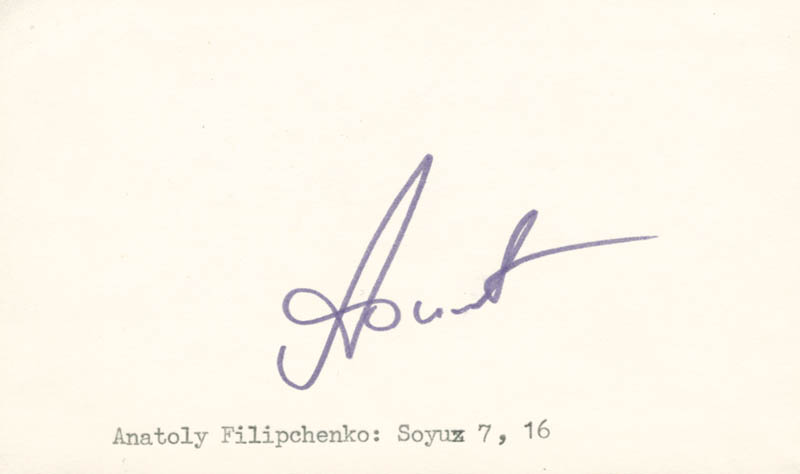 Image 1 for Major General Anatoliy V. Filipchenko - Autograph - HFSID 131712