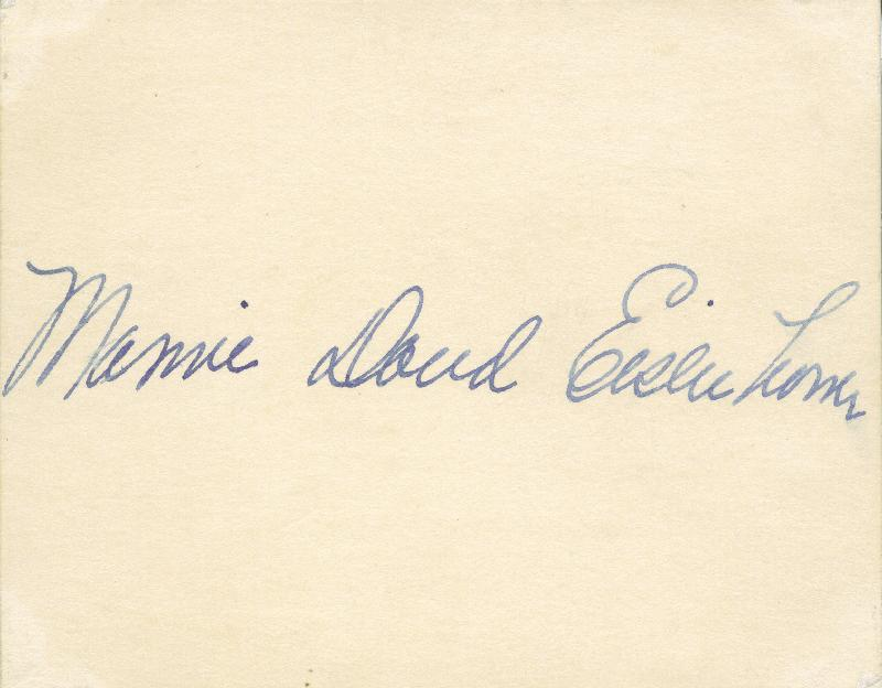 First lady mamie doud eisenhower signature s document 131734