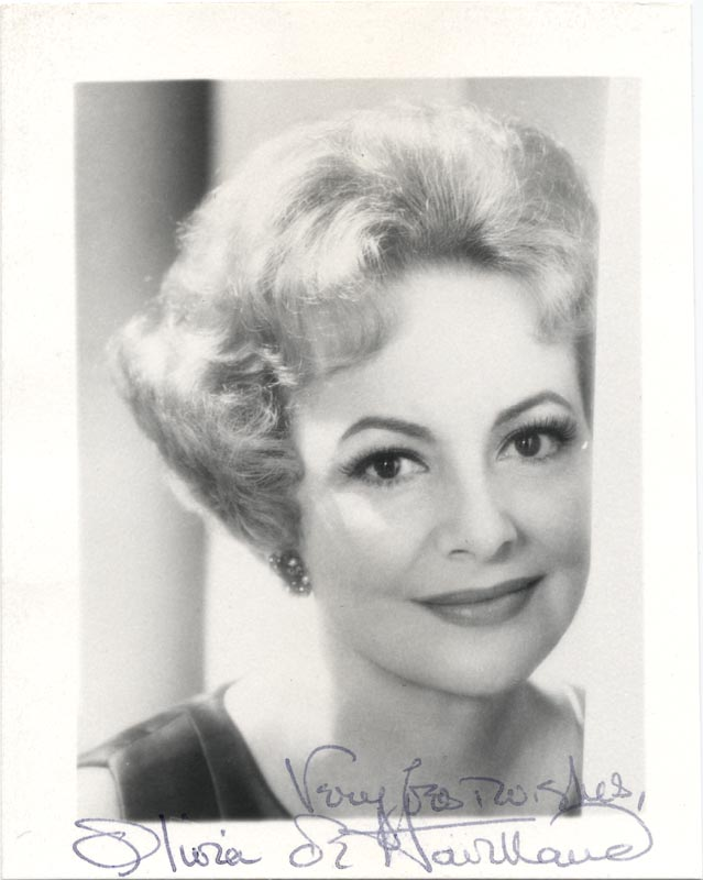 Image 1 for Olivia De Havilland - Autographed Signed Photograph - HFSID 131754