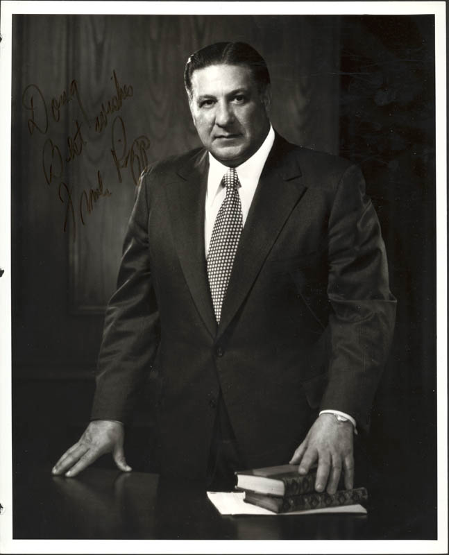 Image 1 for Frank L. Rizzo - Autographed Inscribed Photograph - HFSID 131798