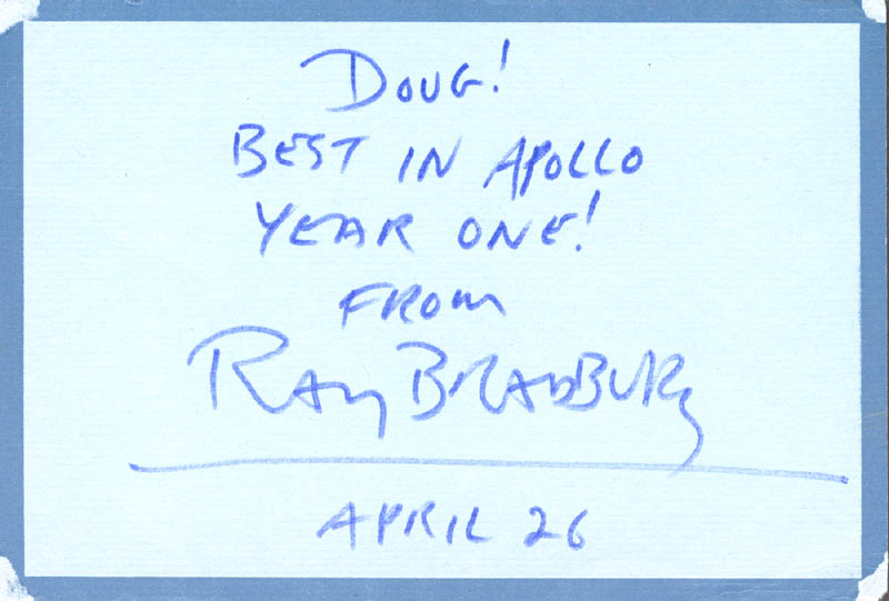 Image 1 for Ray Bradbury - Autograph Post Card Signed 04/26/1970 - HFSID 131819