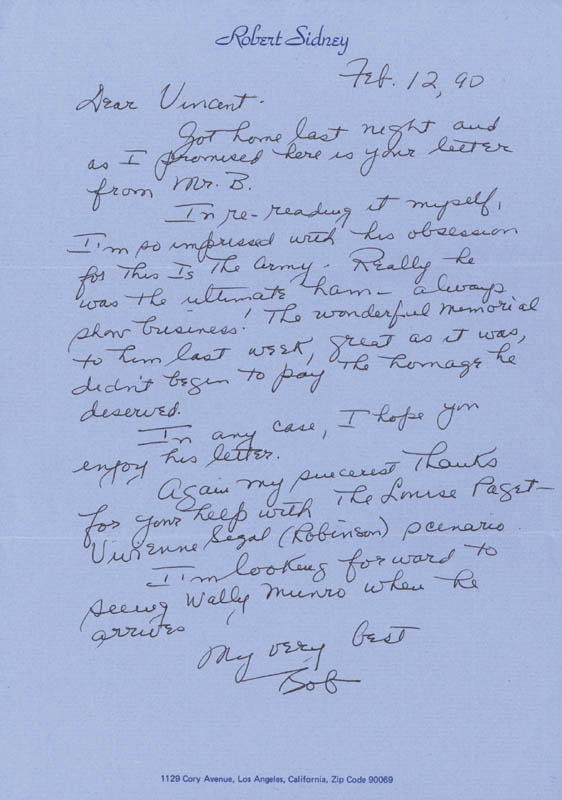 Image 3 for Irving Berlin - Typed Letter Signed 04/11/1945 - HFSID 132011
