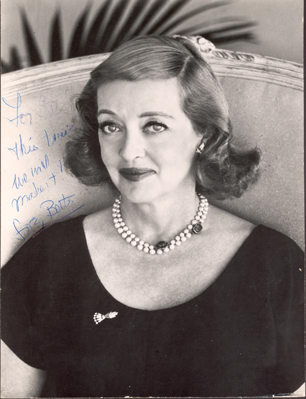 Image 1 for Bette Davis - Autographed Inscribed Photograph - HFSID 132077