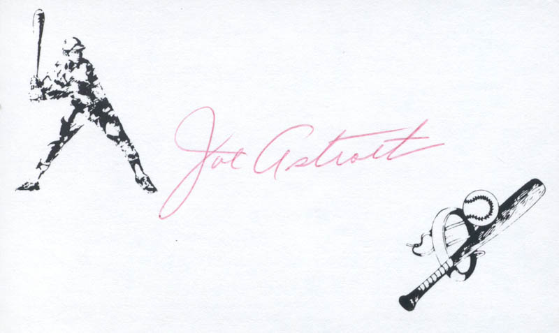 Image 1 for Joe Astroth - Printed Card Signed In Ink - HFSID 132099