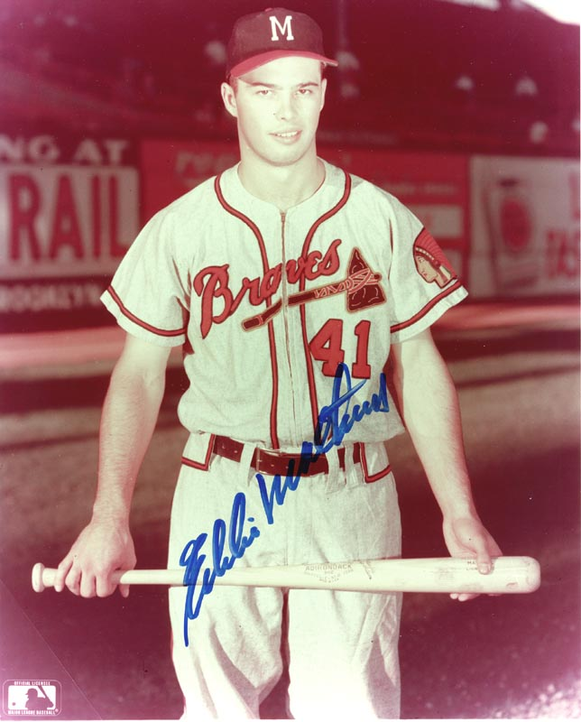 Image 1 for Eddie Mathews - Autographed Signed Photograph - HFSID 132191