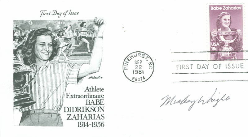 Image 1 for Mickey (Mary K.) Wright - First Day Cover Signed - HFSID 13220