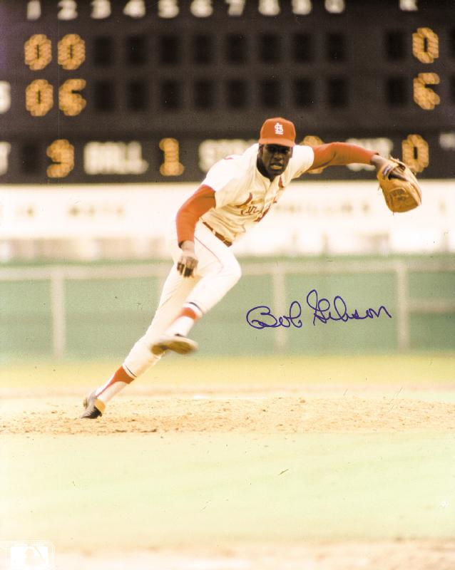 Image 1 for Bob Gibson - Autographed Signed Photograph - HFSID 133881