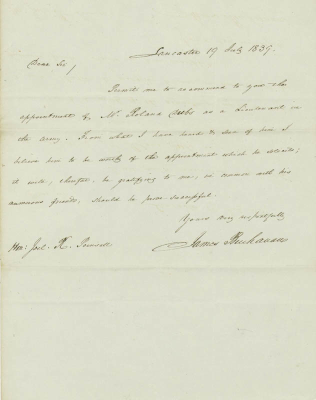 Image 1 for President James Buchanan - Autograph Letter Signed 07/19/1839 - HFSID 13486