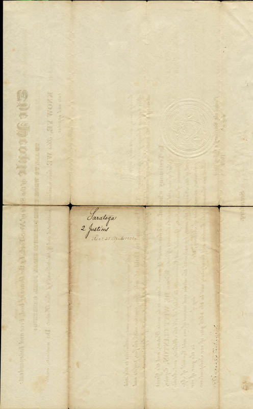 Image 3 for Governor Dewitt Clinton - Civil Appointment Signed 03/26/1822 co-signed by: John Van Ness Yates - HFSID 13527