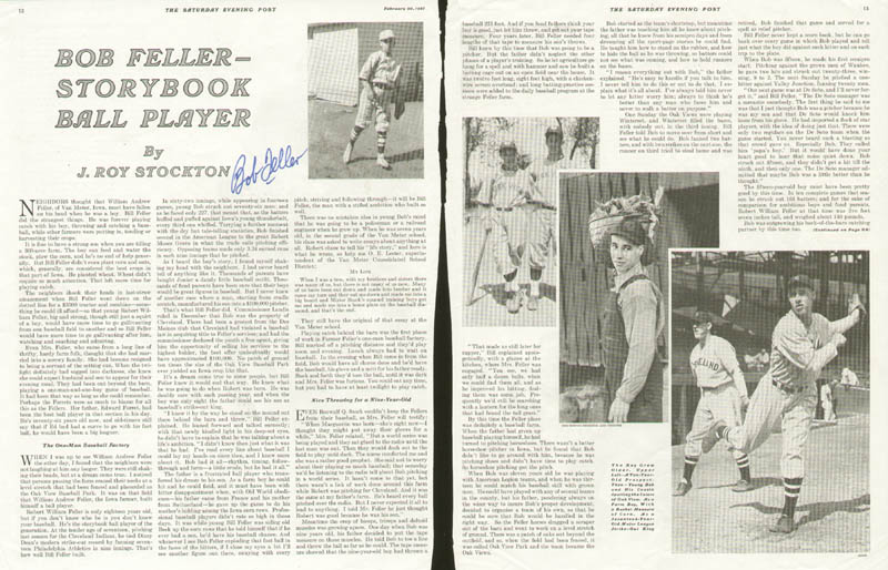 Image 1 for Bob Feller - Biography Signed - HFSID 135649