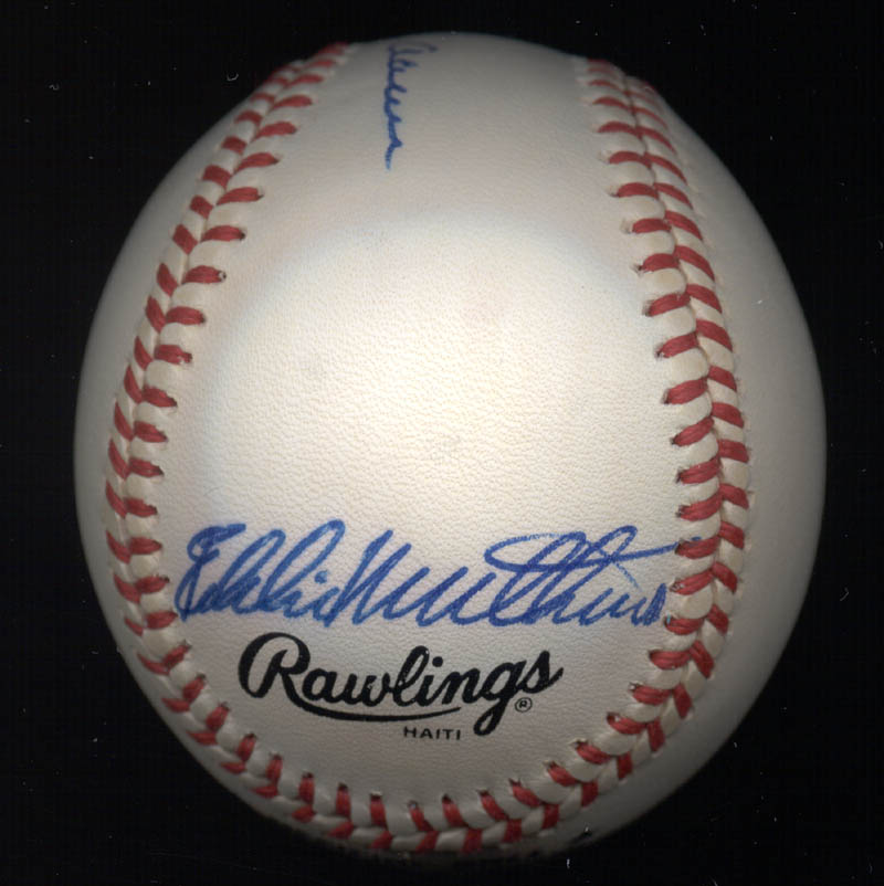 Image 3 for Hank Aaron - Autographed Signed Baseball co-signed by: Eddie Mathews - HFSID 135898