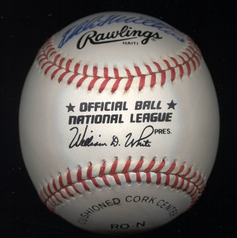 Image 4 for Hank Aaron - Autographed Signed Baseball co-signed by: Eddie Mathews - HFSID 135898