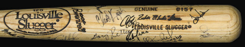Image 1 for The Texas Rangers - Baseball Bat Signed Circa 1989 with co-signers - HFSID 136179