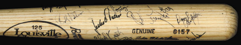 Image 3 for The Texas Rangers - Baseball Bat Signed Circa 1989 with co-signers - HFSID 136179