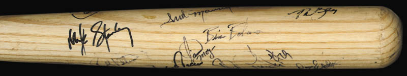 Image 4 for The Texas Rangers - Baseball Bat Signed Circa 1989 with co-signers - HFSID 136179