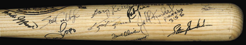 Image 5 for The Texas Rangers - Baseball Bat Signed Circa 1989 with co-signers - HFSID 136179