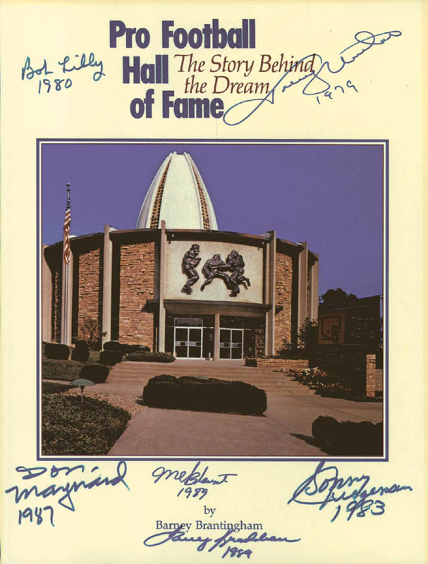 Image 1 for Hall Of Fame Football - Program Signed Circa 1989 with co-signers - HFSID 136418