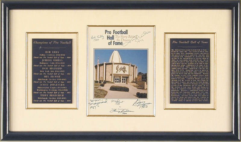 Image 3 for Hall Of Fame Football - Program Signed Circa 1989 with co-signers - HFSID 136418
