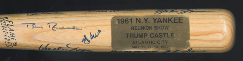 Image 3 for The 1961 New York Yankees - Baseball Bat Signed Circa 1990 with co-signers - HFSID 136433