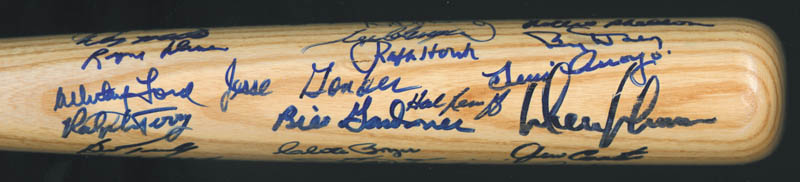 Image 5 for The 1961 New York Yankees - Baseball Bat Signed Circa 1990 with co-signers - HFSID 136433