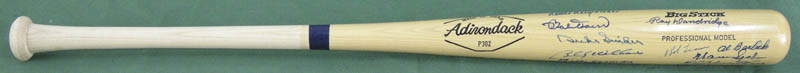 Image 1 for Hall Of Fame Baseball - Baseball Bat Signed with co-signers - HFSID 137197