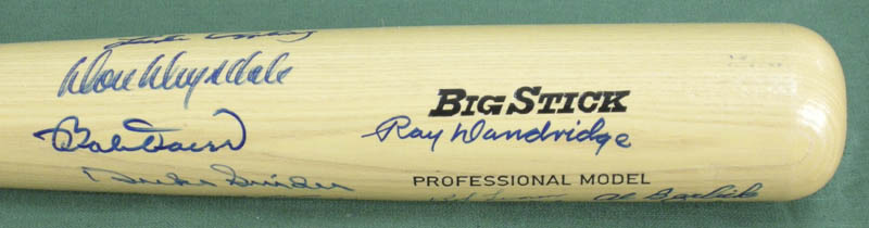 Image 3 for Hall Of Fame Baseball - Baseball Bat Signed with co-signers - HFSID 137197